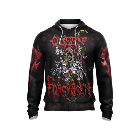 Image of World Of Warcraft - Queen of the Forsaken Unisex Zip Up Hoodie
