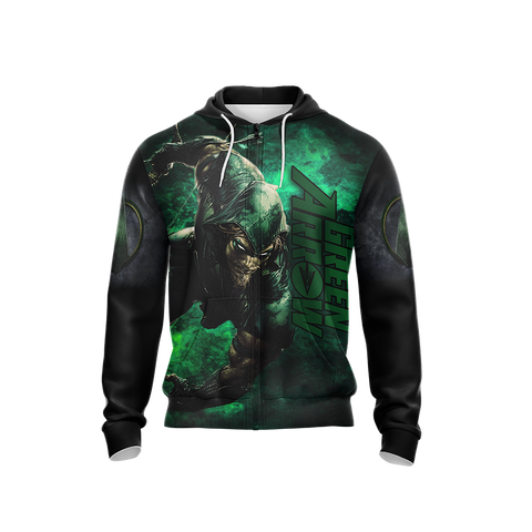 Dc Green Arrow Unisex Zip Up Hoodie