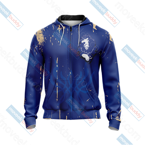 Image of Fire Emblem - The Blue Lions Unisex Zip Up Hoodie Jacket