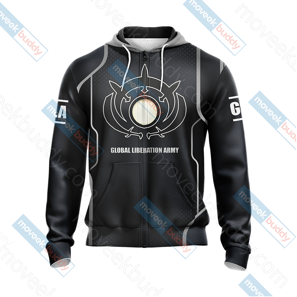 Command & Conquer - GLA (Global Liberation Army) Unisex Zip Up Hoodie Jacket
