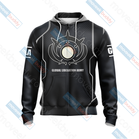Image of Command & Conquer - GLA (Global Liberation Army) Unisex Zip Up Hoodie Jacket