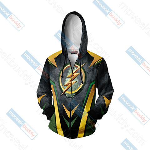 Arrow and Flash New Version Unisex Zip Up Hoodie Jacket