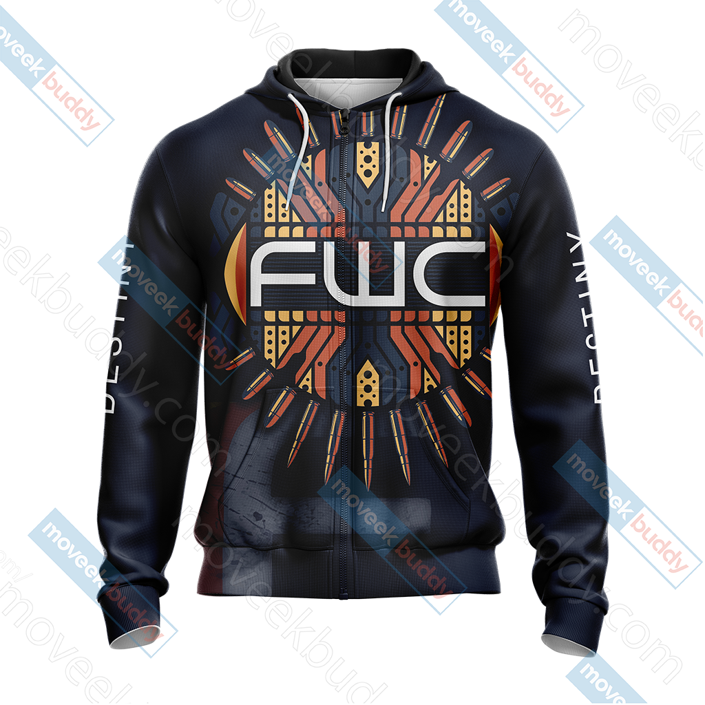 Destiny - FWC New Collection Unisex Zip Up Hoodie