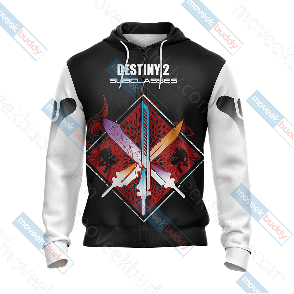 Destiny New Look Unisex Zip Up Hoodie Jacket
