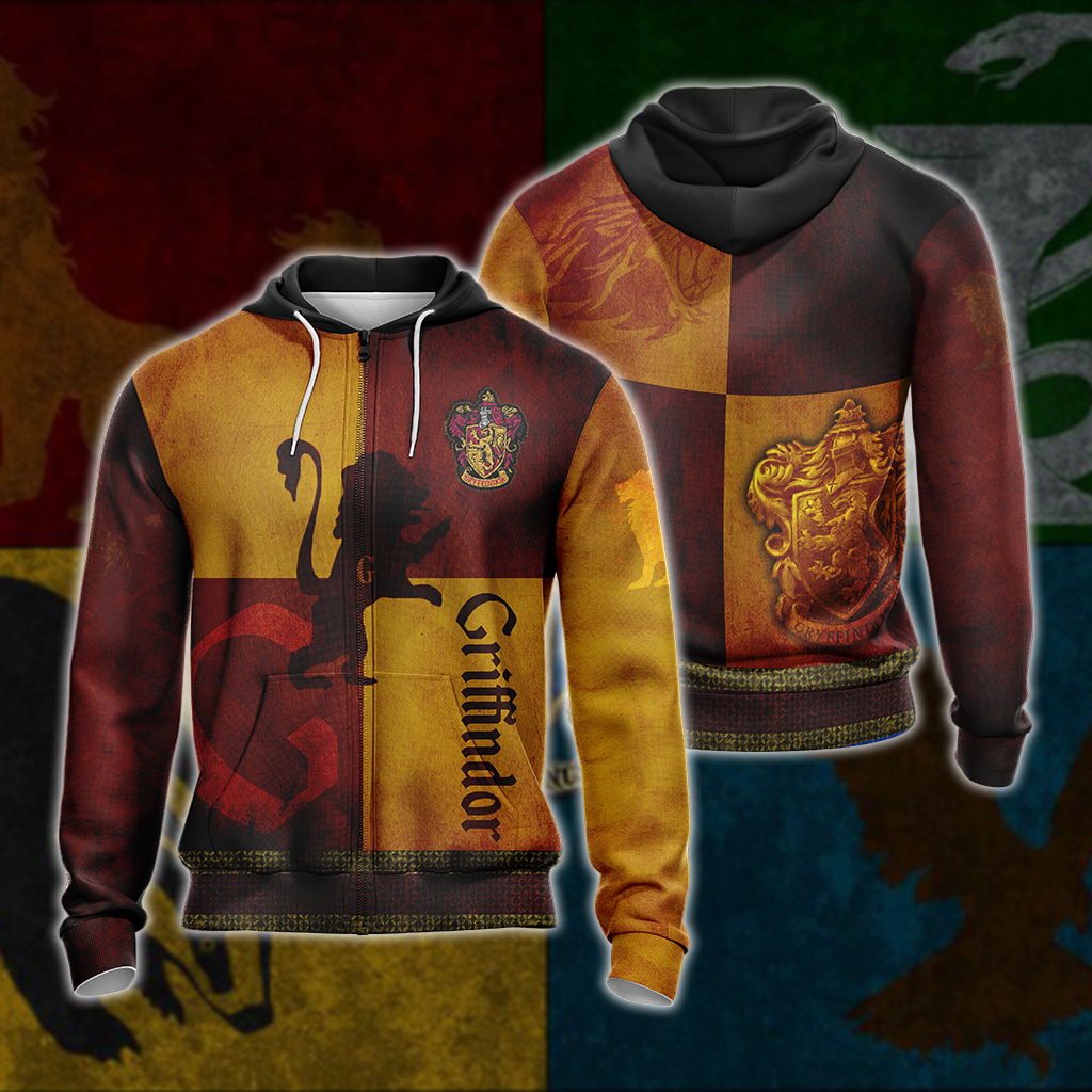 Brave Like A Gryffindor Harry Potter New Version 1 Unisex Zip Up Hoodie