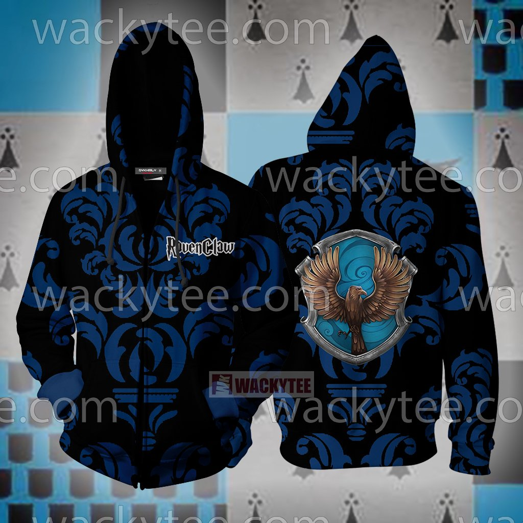 Wise Like A Ravenclaw Harry Potter New Collection Zip Up Hoodie