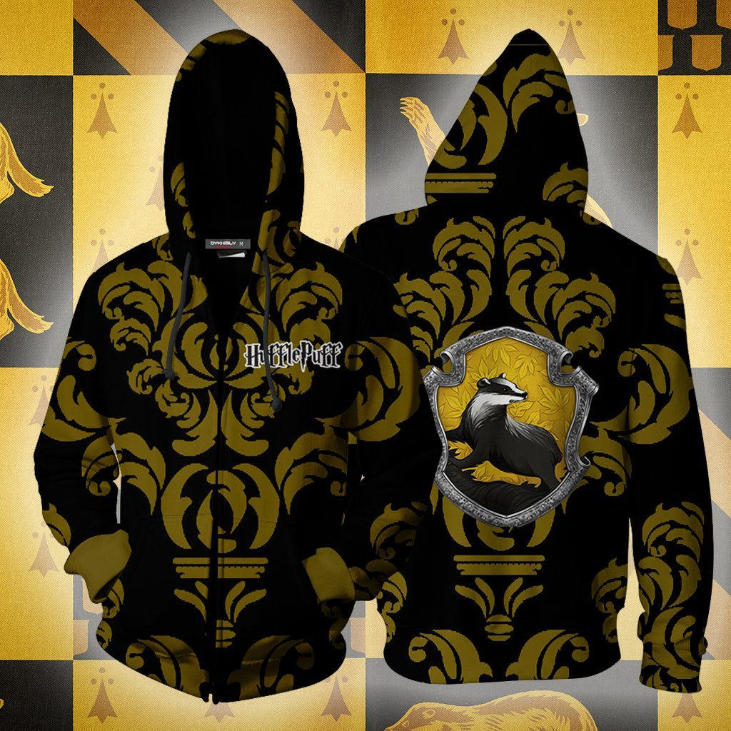 Loyal Like A Hufflepuff Harry Potter New Collection Zip Up Hoodie