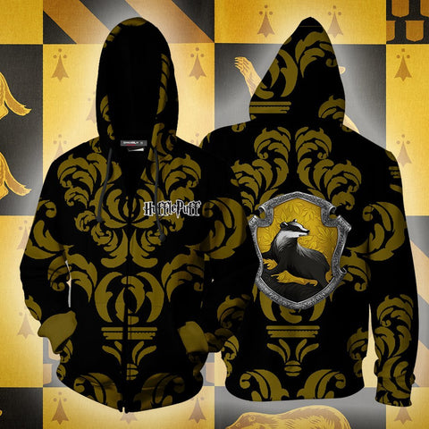 Image of Loyal Like A Hufflepuff Harry Potter New Collection Zip Up Hoodie