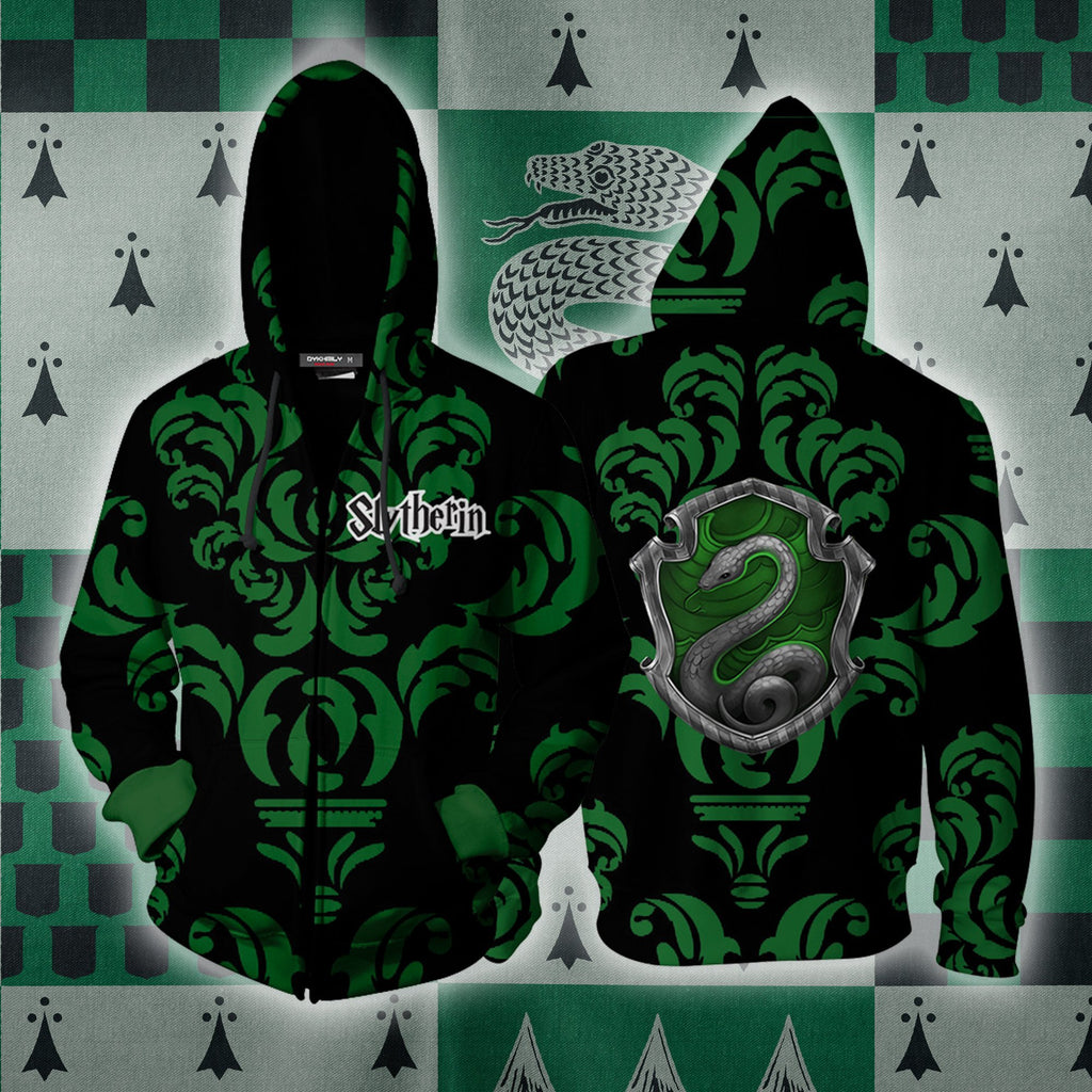 Cunning Like A Slytherin Harry Potter New Collection Zip Up Hoodie