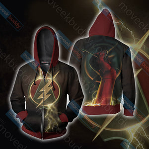 Arrow and Flash Unisex Zip Up Hoodie Jacket