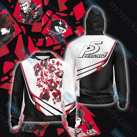 Persona 5 New Look Unisex Zip Up Hoodie Jacket