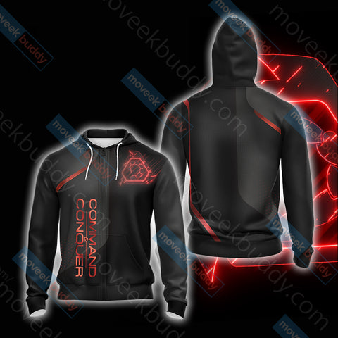 Image of Command & Conquer - Nod Unisex Zip Up Hoodie Jacket
