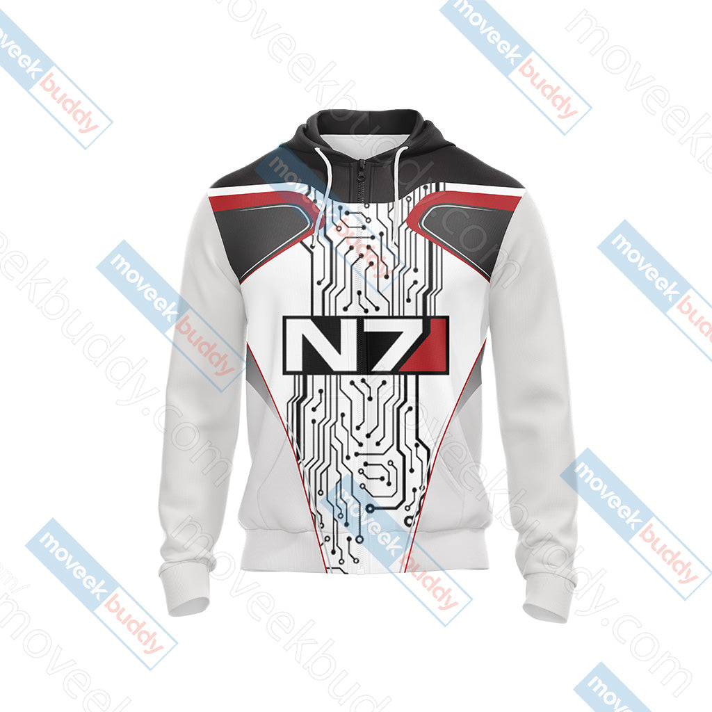 Mass Effect - N7 New Style Unisex Zip Up Hoodie Jacket