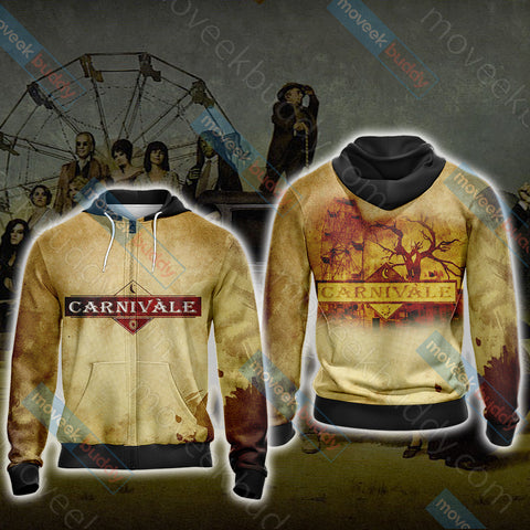 Image of Carnivàle Unisex Zip Up Hoodie Jacket