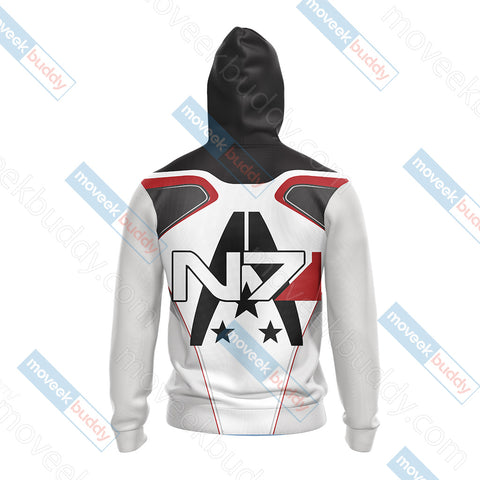 Image of Mass Effect - N7 New Style Unisex Zip Up Hoodie Jacket