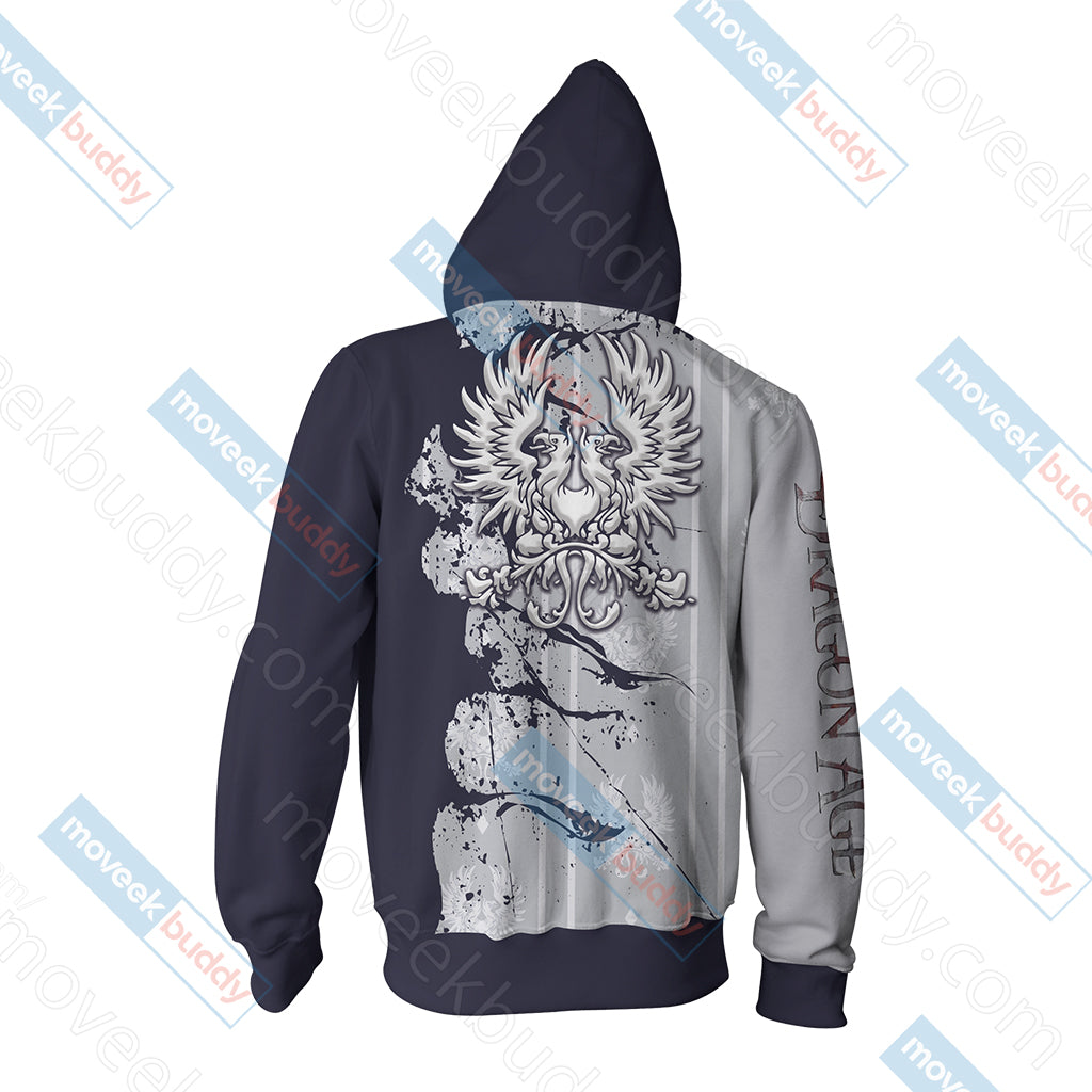 Dragon Age - Grey Warden symbol Unisex Zip Up Hoodie Jacket