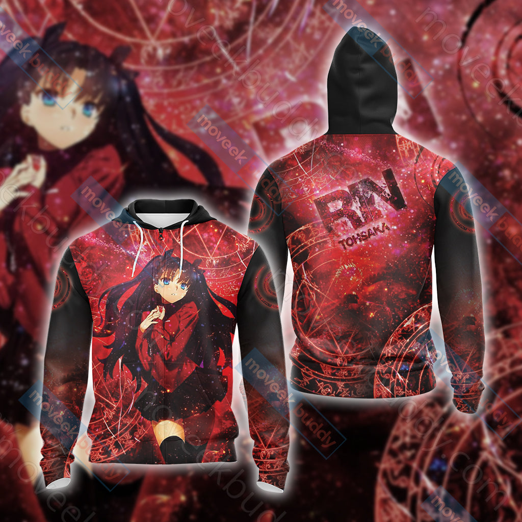 Fate / Stay Night - Rin Unisex Zip Up Hoodie Jacket
