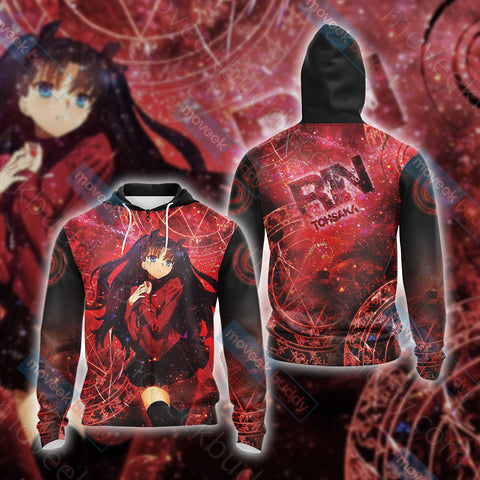 Image of Fate / Stay Night - Rin Unisex Zip Up Hoodie Jacket