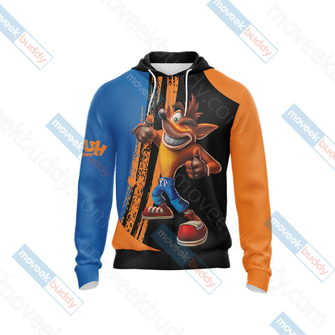 Image of Crash Bandicoot New Look Unisex Zip Up Hoodie Jacket