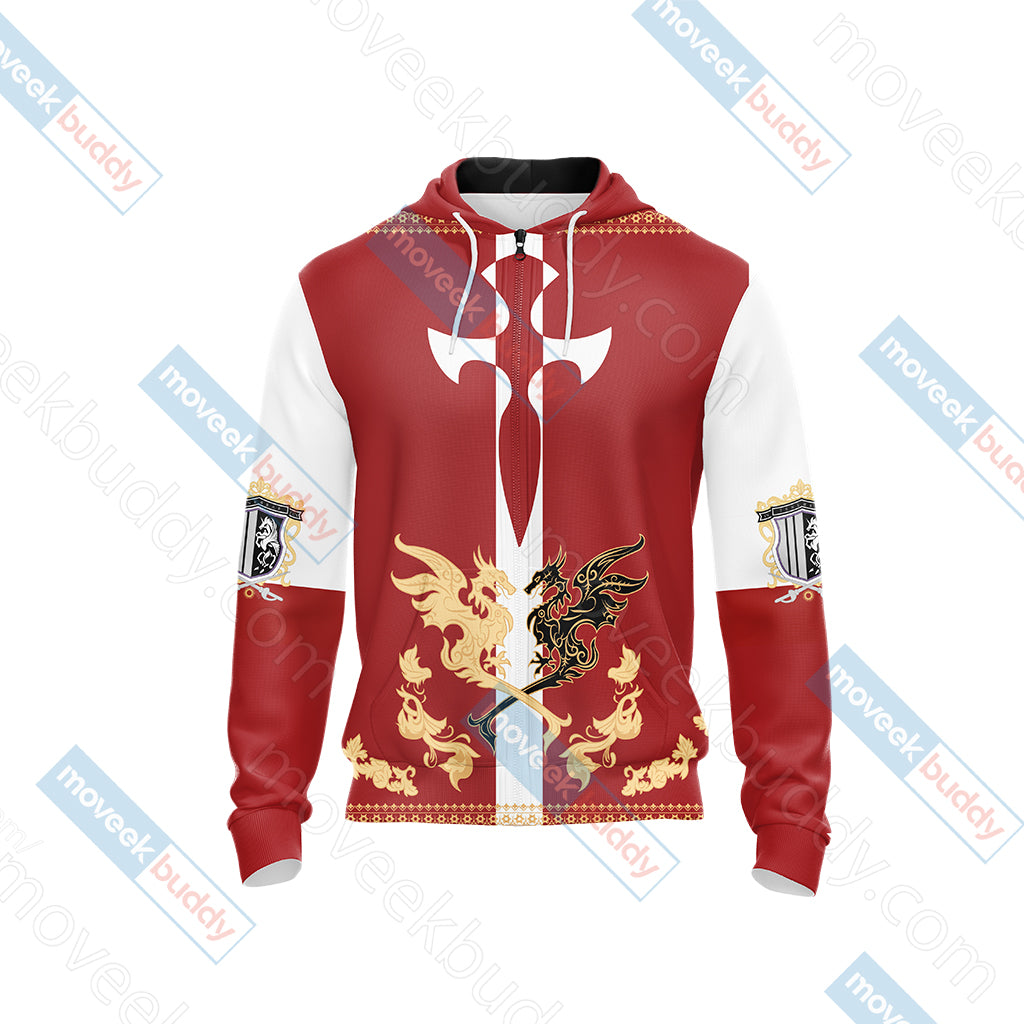 Final Fantasy XV - Niflheim empire flag Unisex Zip Up Hoodie Jacket
