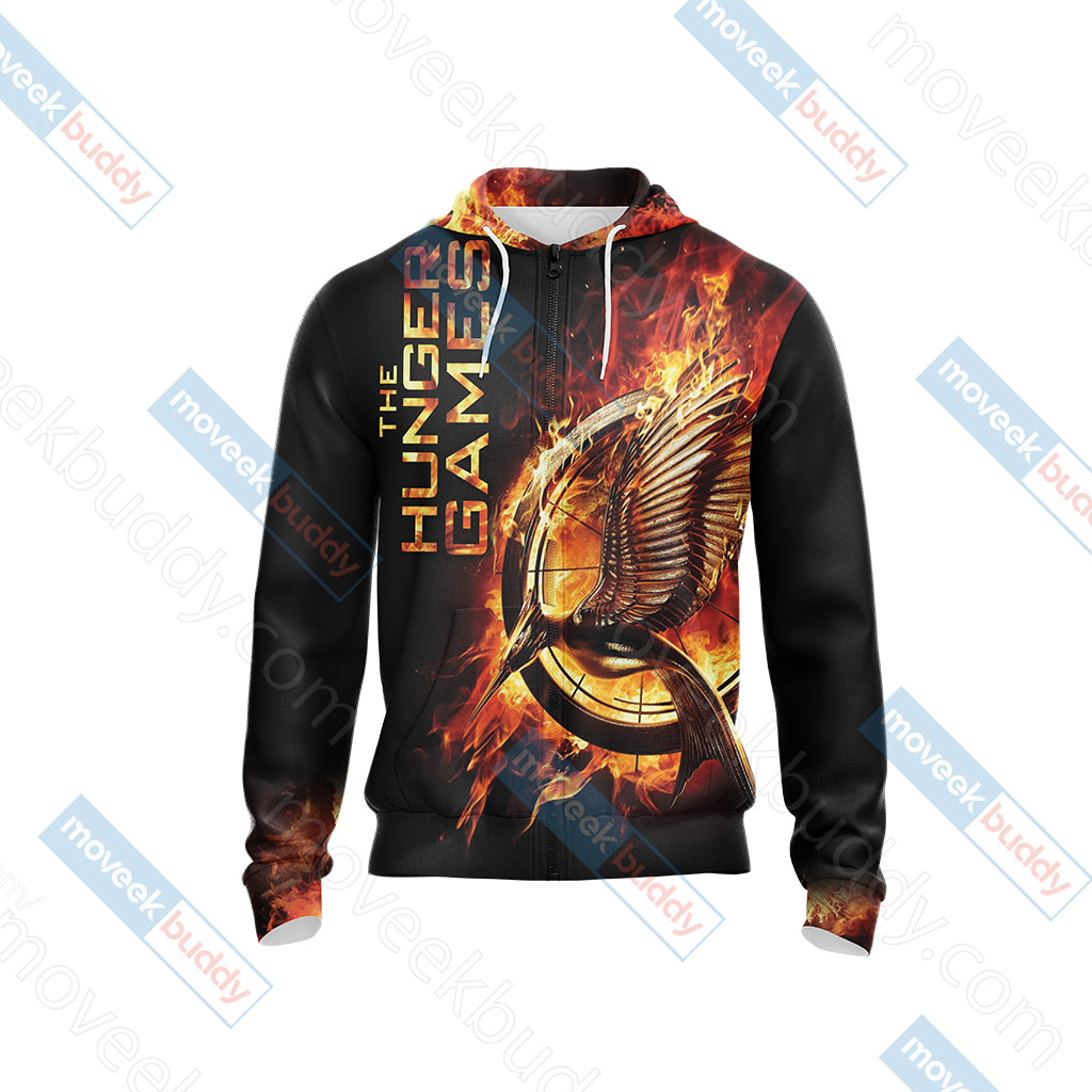 The Hunger Games New Style Unisex Zip Up Hoodie Jacket