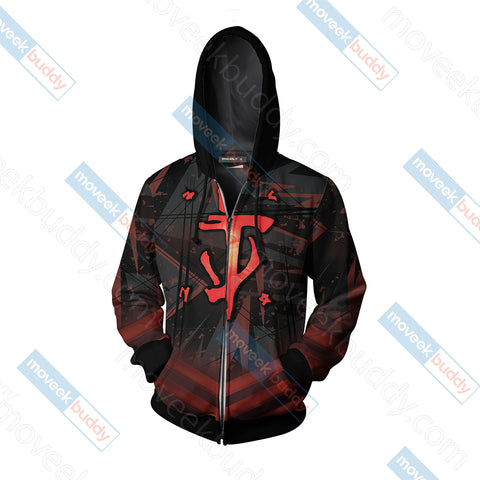 Image of Doom New Unisex Zip Up Hoodie Jacket