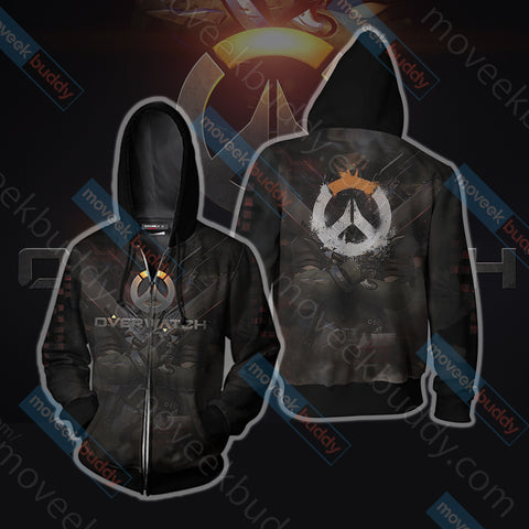 Image of Overwacth Symbol Zip Up Hoodie Jacket