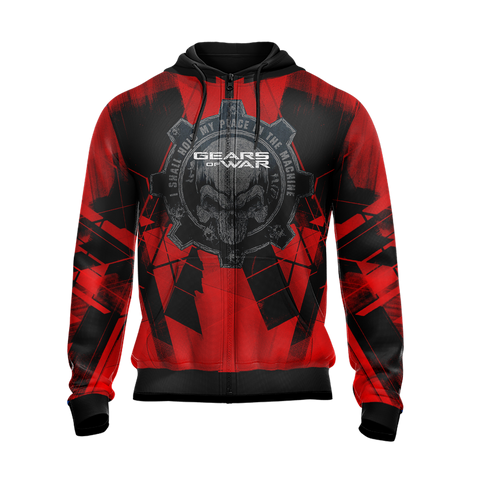 Gears Of War - I Shall Hold My Place In The Machine Unisex Zip Up Hoodie