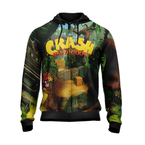 Crash Bandicoot New Style Unisex Zip Up Hoodie