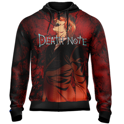 Death Note - Light Yagami Unisex Zip Up Hoodie