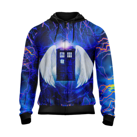 Doctor Who - Tardis New Style Zip Up Hoodie