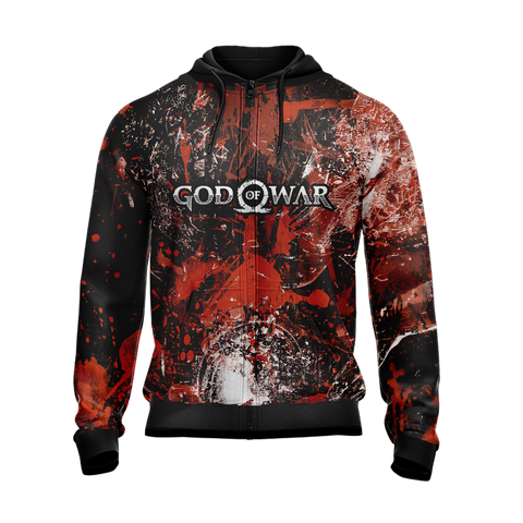 Image of God Of War - Kratos New Version 2020 Unisex Zip Up Hoodie Jacket