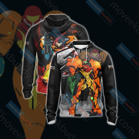 Image of Metroid Samus New Look Unisex Zip Up Hoodie
