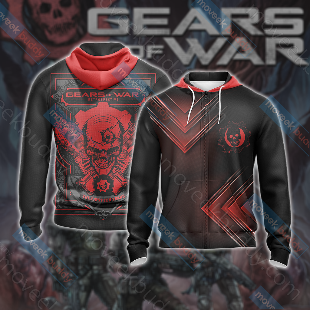 Gears of War Unisex Zip Up Hoodie Jacket