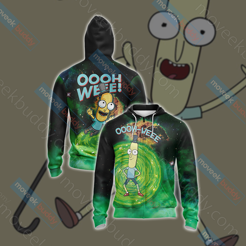 Image of Mr.Poopybutthole Rick and Morty Unisex Zip Up Hoodie