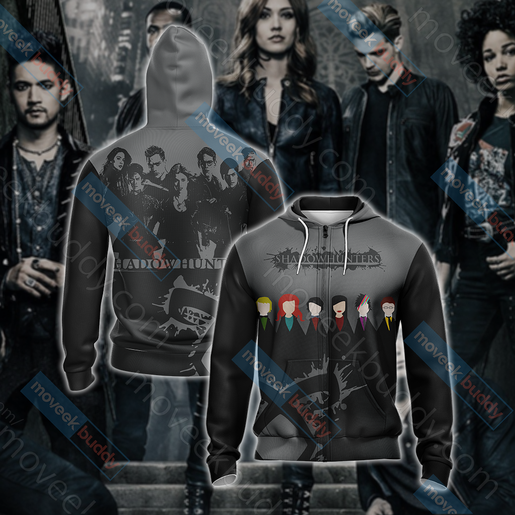 Shadowhunters New Style Unisex Zip Up Hoodie Jacket
