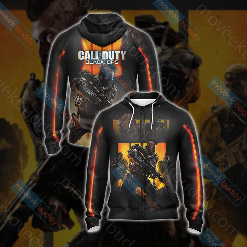 Call of Duty - Black Ops 4 New Look Unisex Zip Up Hoodie