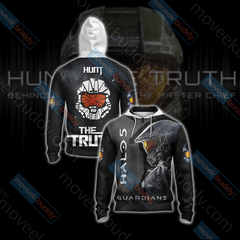 Image of Halo 5: Guardians - Hunt The Truth Unisex Zip Up Hoodie Jacket