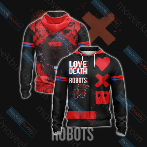 Image of Love, Death & Robots Zip Up Hoodie