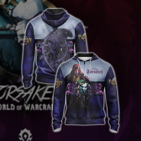 World Of Warcraft - Forsaken Unisex Zip Up Hoodie