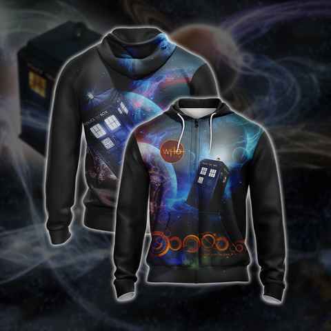Image of Doctor Who New Unisex Zip Up Hoodie