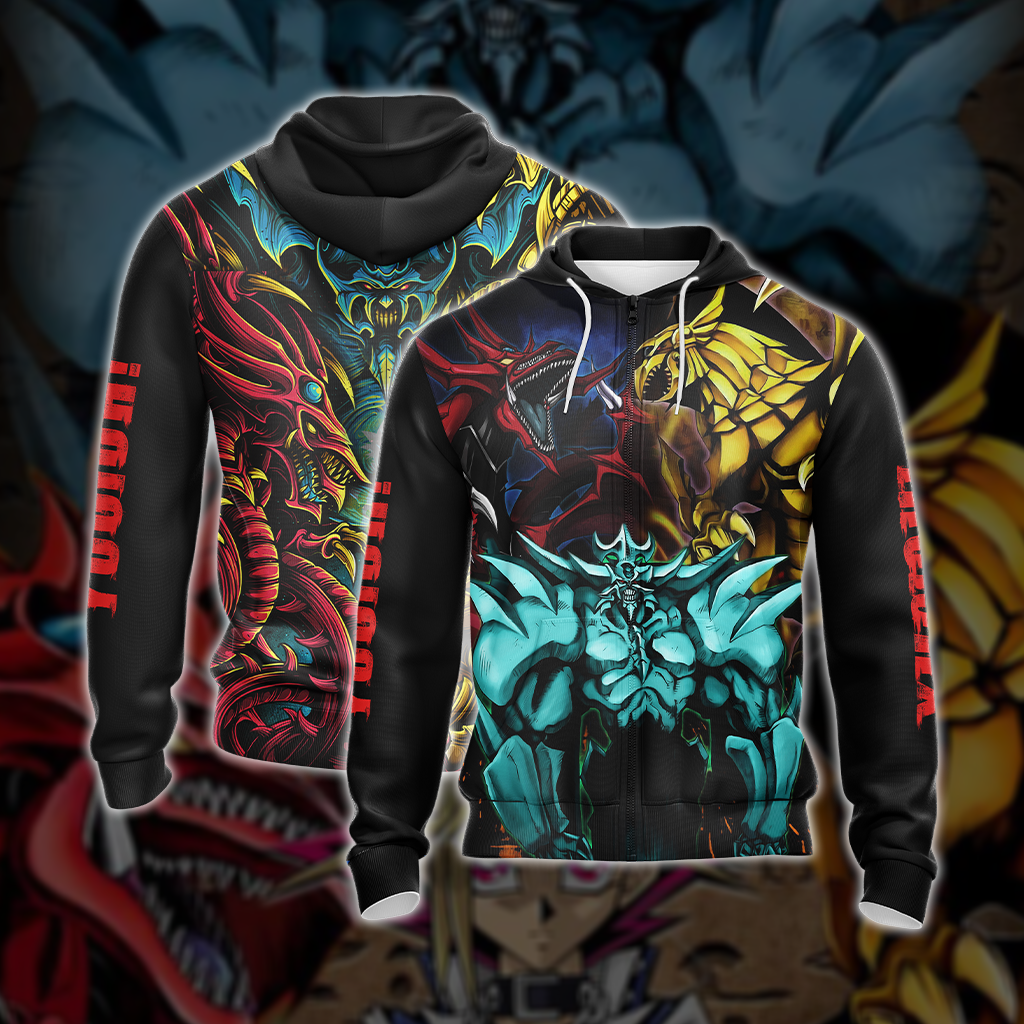 Yu-Gi-Oh! Egyptian Gods Dragons Unisex Zip Up Hoodie