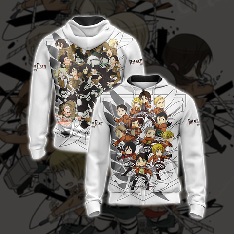 Image of Attack on Titan New Unisex Zip Up Hoodie
