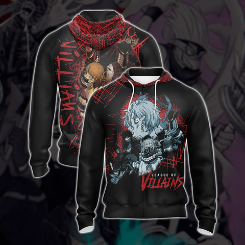 My Hero Academia Villian Group Unisex Zip Up Hoodie Jacket