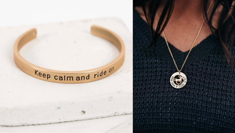 Keep Calm and Ride On Necklace & Bracelet