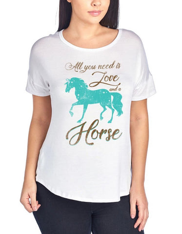 All You Need Is Love And A Horse Shirt