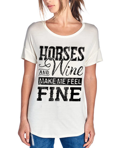 Horse And Wine Shirt