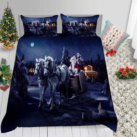 Santa Here Bedding Set