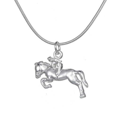 Horse rider necklace