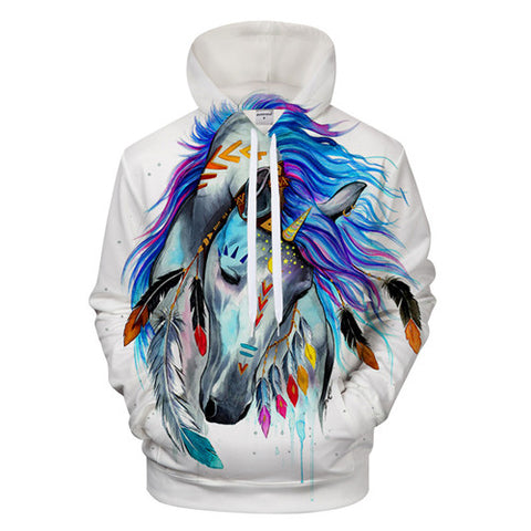 The colored horse by Pixie Cold Art Hoodies